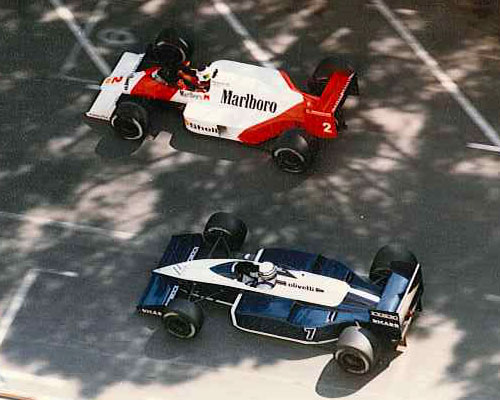 Monaco F1 Formula 1 GP Grand Prix 1987 Stefan Johansson McLaren TAG Riccardo Patrese Brabham BMW