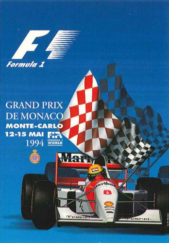 1994 Monaco F1 Grand Prix Commemorative Postcard