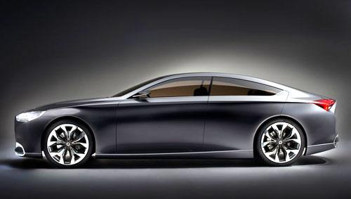 Hyundai HCD-14 Genesis Concept Detroit Auto Show 2013 Gray