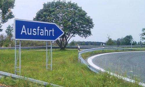 German Autobahn Ausfahrt Road Sign