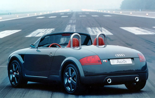 Audi TTS Concept Gray Rear Back Taillights