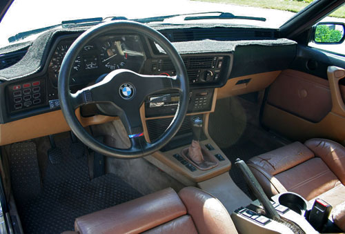 1986 BMW E24 6-Series 635 635CSi Interior Inside Cockpit Console Dash Dashboard Manual Stickshift