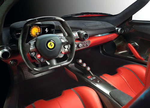 Ferrari LaFerrari Interior Inside Cockpit Console Dash Dashboard