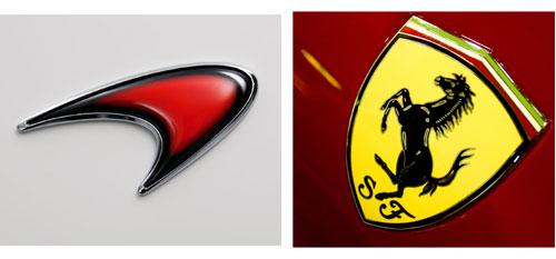McLaren Ferrari Logos