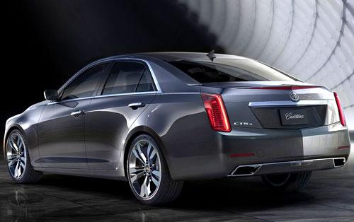 2014 Cadillac CTS Gray Gunmetal Rear Back Taillights
