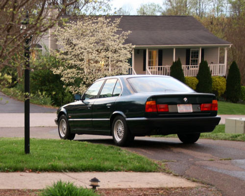 1995 BMW E34 525i Oxford Green Rear Back Taillights