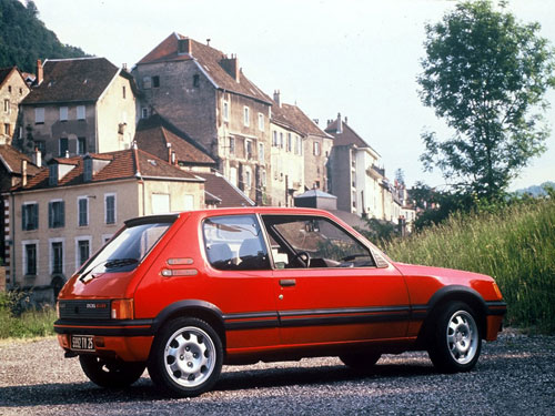 Peugeot 205 GTI Red