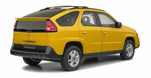Pontiac Aztek Yellow Rear