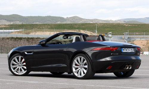 2014 Jaguar F-Type Black Rear