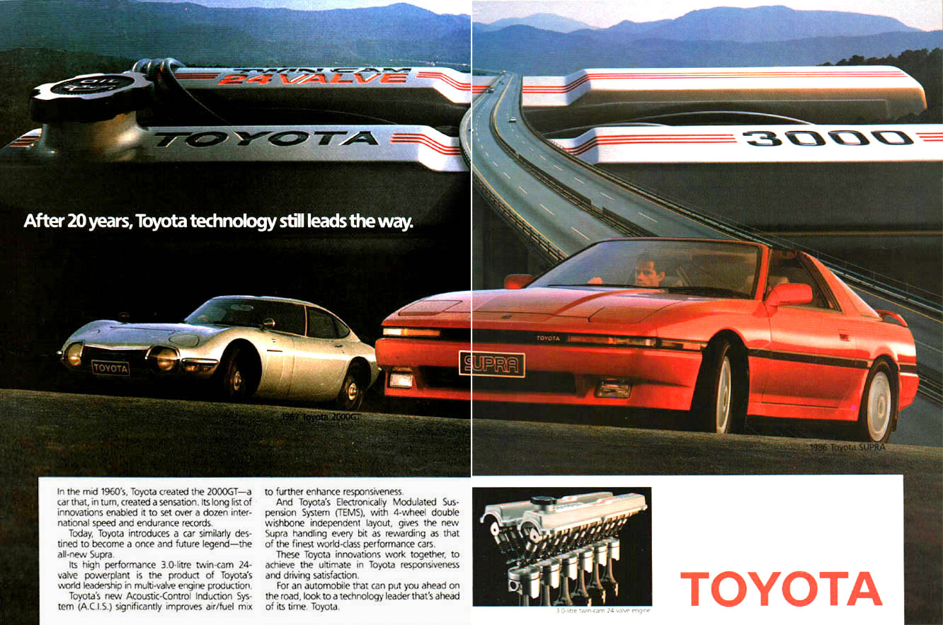 Car Ads And Brochures Toyota Supra Spannerhead