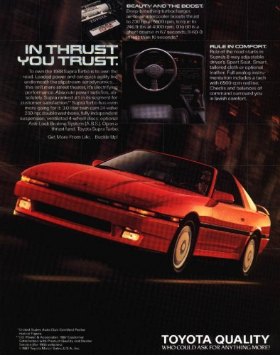 Toyota Supra Advertisement