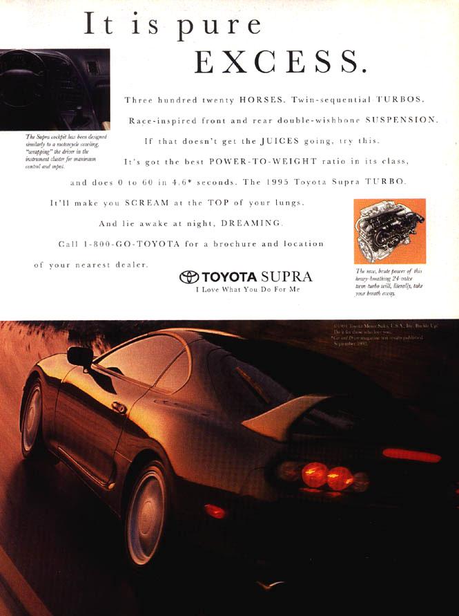 Car Ads And Brochures Toyota Supra Spannerhead