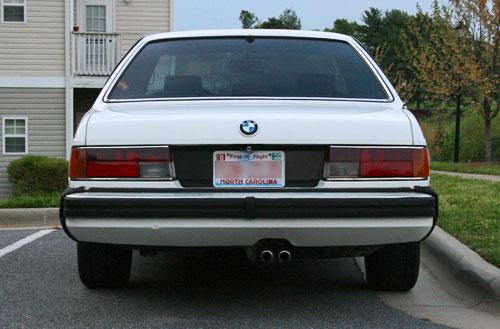 Debadged 1986 BMW 635CSi White E24