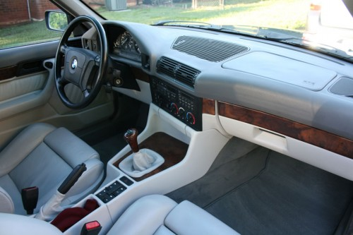 1995 BMW 540i 6-Speed Arktisgrau Arctic Gray Dove Interior Inside Cockpit Console Dash Dashboard
