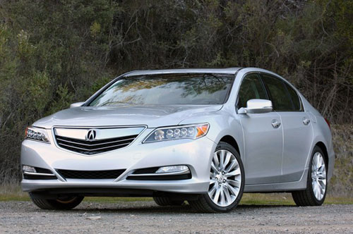 2014 Acura RLX Silver Nose Front Headlights