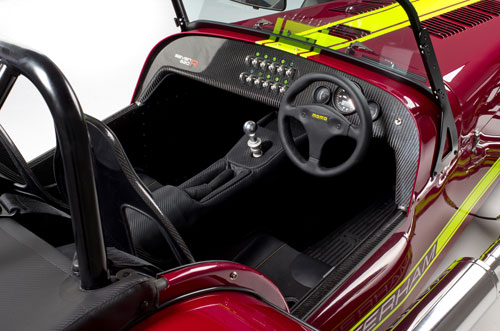 Caterham 620R Red Interior Inside Cockpit Console Dash Dashboard