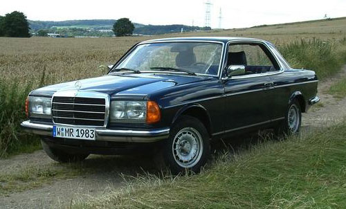 Mercedes Benz W123 Coupe Blue