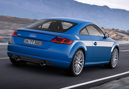 2015 Audi TT Coupe Blue Rear
