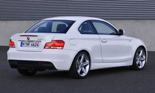 BMW 1-Series 135i E82 White Coupe Rear