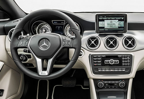 Mercedes Benz CLA Interior Inside Console Cockpit