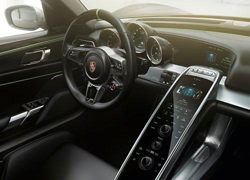 Porsche 918 Spyder Interior Inside Cockpit Console