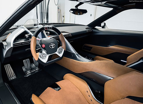 Toyota FT-1 Graphite Interior Inside Cockpit Console