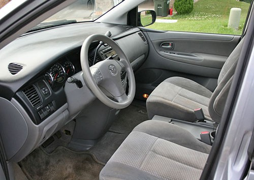 2005 Mazda MPV Gray Grey Cloth Interior Inside Cockpit Dashboard Console