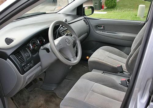 2005 Mazda MPV Gray Grey Cloth Interior Inside Cockpit Dashboard Console