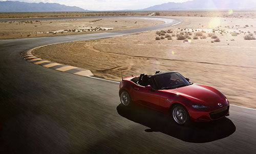 Mazda MX-5 Miata Ad Advert Advertisement Desert Track 2016 ND